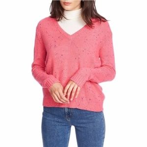 Court & Rowe Nep Flecked V-Neck Sweater Small
